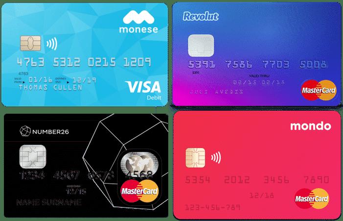 Mejores tarjetas para viajar, gratis, y sin comisiones