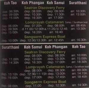 Cómo llegar a Koh tao desde Surat Thani