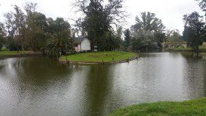 El lago y la cabaña del leñador.