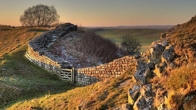 Foto del muro de Adriano