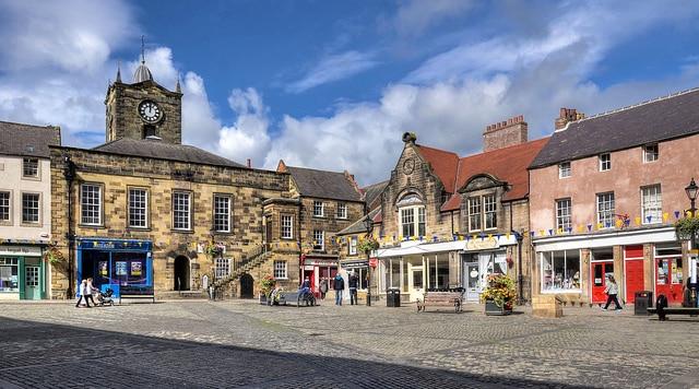 Calles y plaza de Alnwick (Baz Richardson)