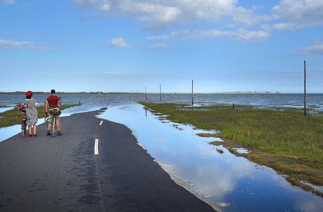 Carretera hundida Holy Island
