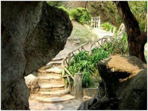 Escalinata en Las Grutas