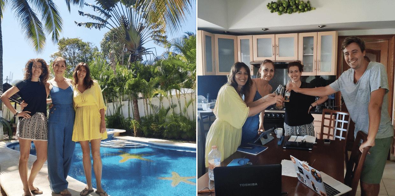 Aquí en uno de los cursos de marketing en los que participamos, con 3 españolas en Playa del Carmen (México) aprendiendo cómo crear, escalar y vender cada mes más con una empresa.
