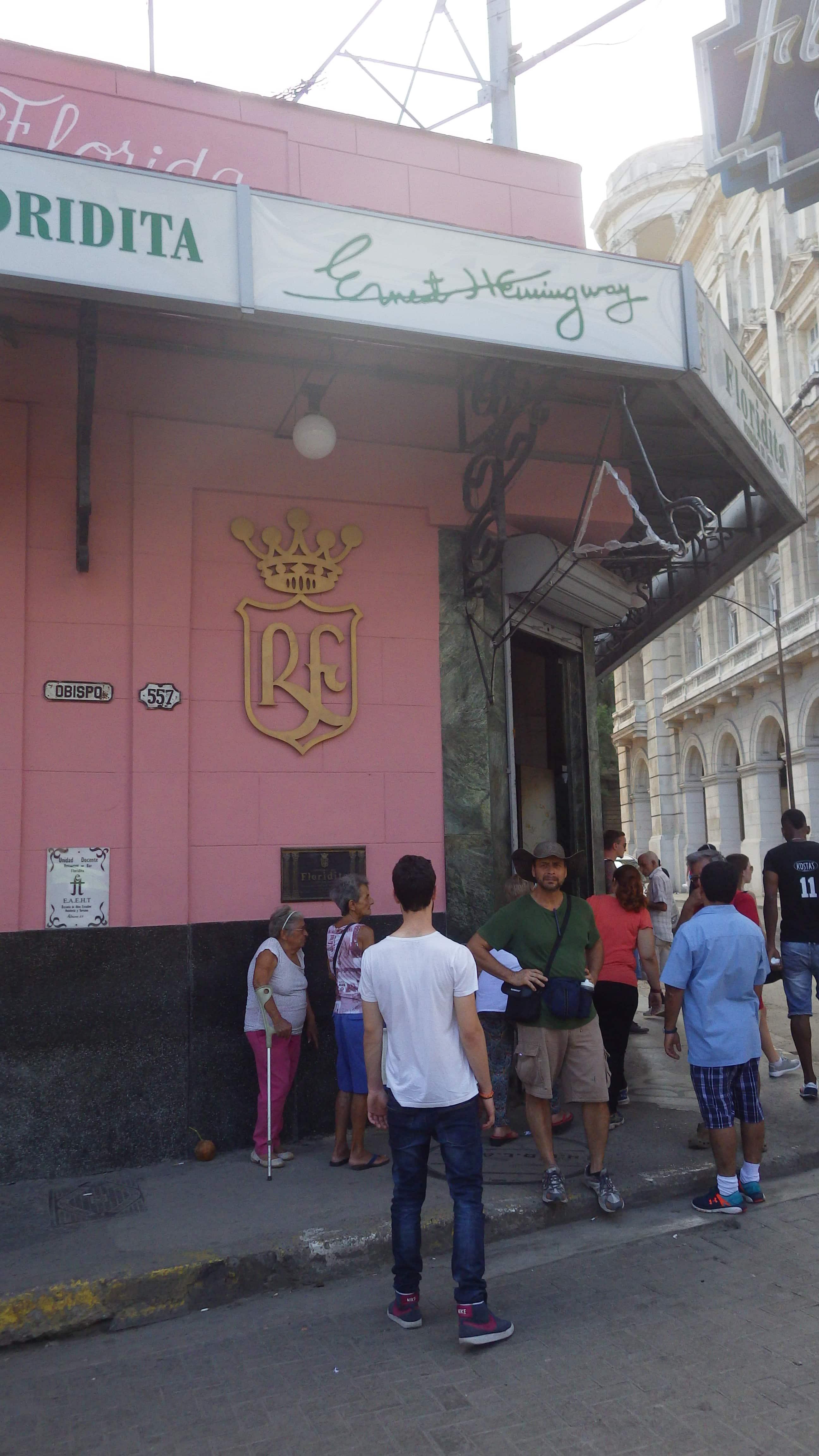 Bar Floridita, principio de la calle Obispo. Marta Lora.