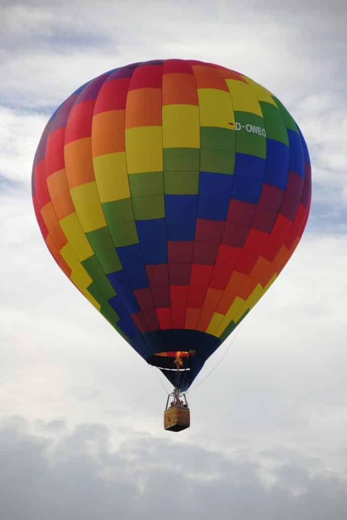 El primer transporte aéreo: una cesta atada a un globo lleno de aire caliente. ¿Te subirías?