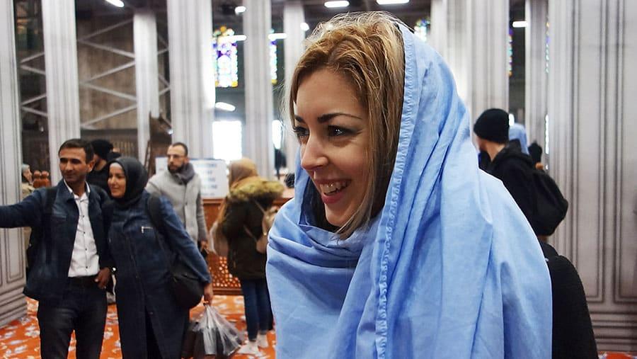 jihab mezquita azul