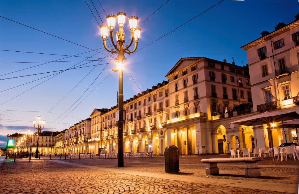 Una de las tantas plazas de Torino