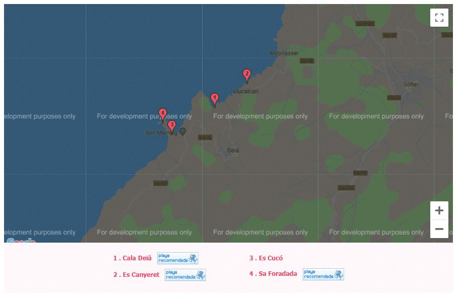 mapa de las calas de mallorca deia