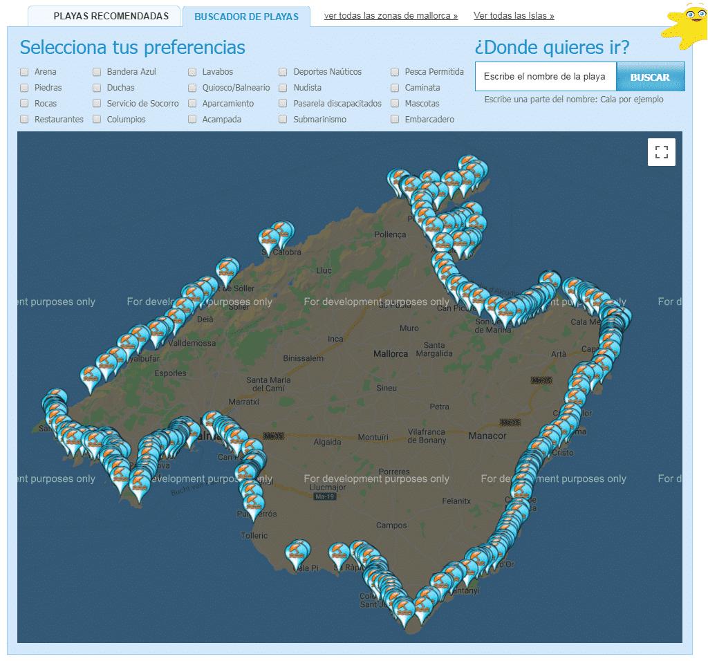 Mapa Calas De Mallorca.Mapa De Las Calas De Mallorca Como Llegar A Las De 300