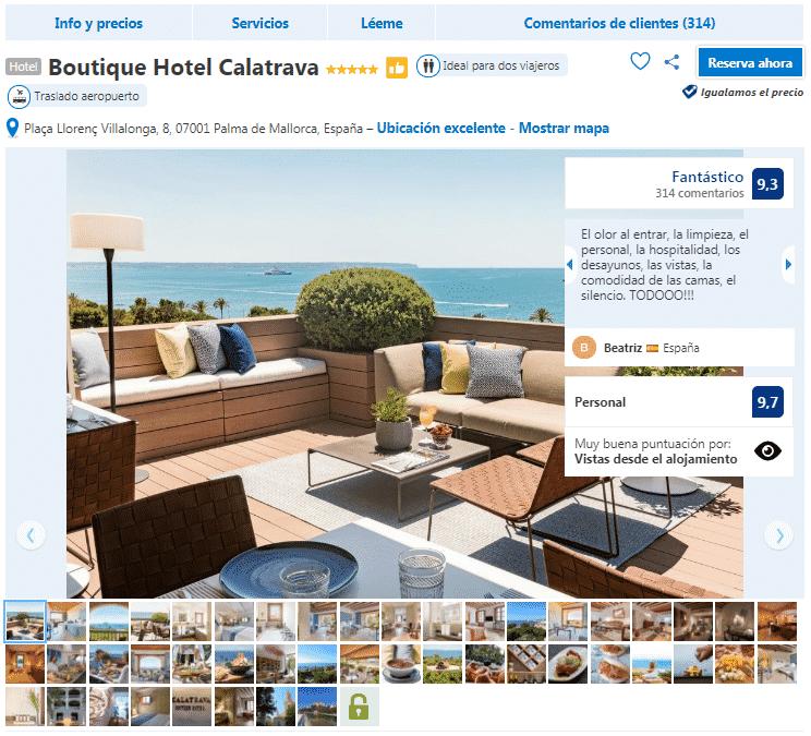 hoteles en Palma de Mallorca 5 estrellas boutique hotel calatrava