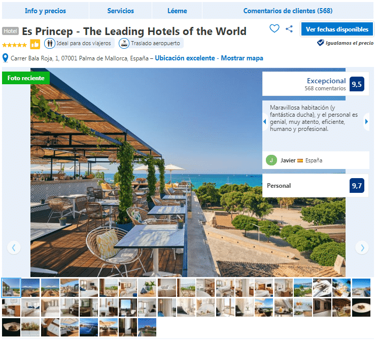 hoteles en Palma de Mallorca 5 estrellas es princep