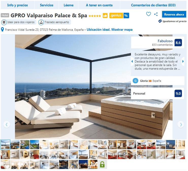 hoteles en Palma de Mallorca 5 estrellas gpro valparaiso palace
