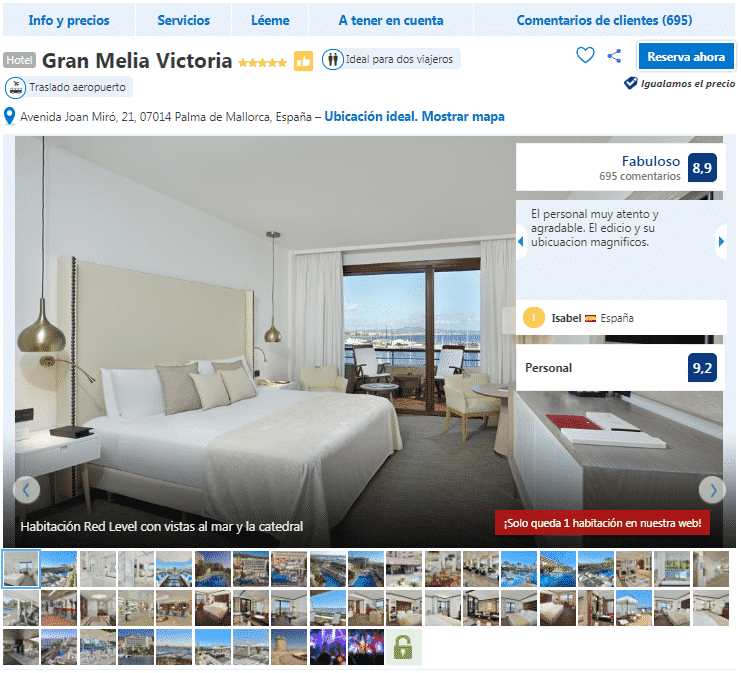 hoteles en Palma de Mallorca 5 estrellas gran melia victoria