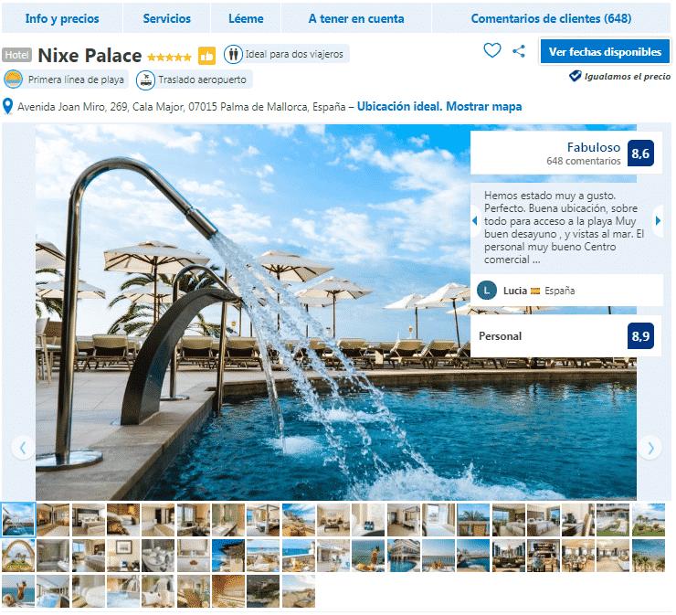 hoteles en Palma de Mallorca 5 estrellas nixe palace