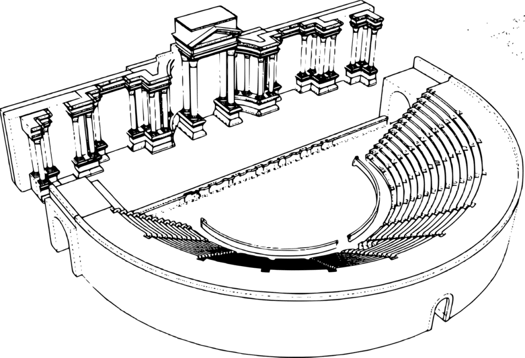 Esquema de un Teatro Romano