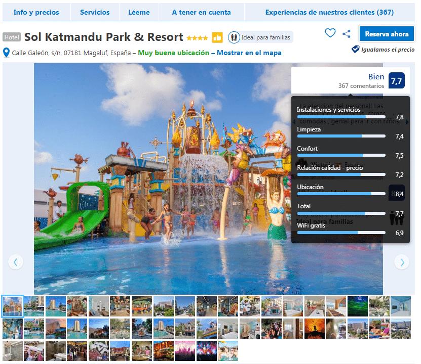 qué hacer en mallorca con niños sol katmandu park and resort