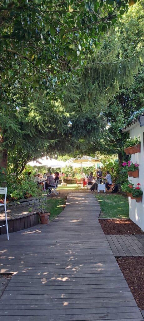 Jardín del Restaurante A Horta do Obradoiro