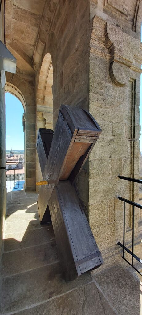 Imagen de la carraca de la catedral de Santiago
