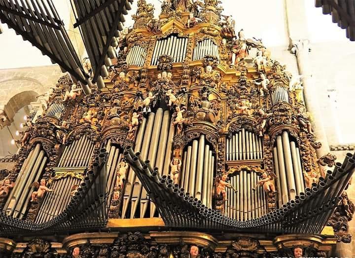 Vista del órgano de la catedral